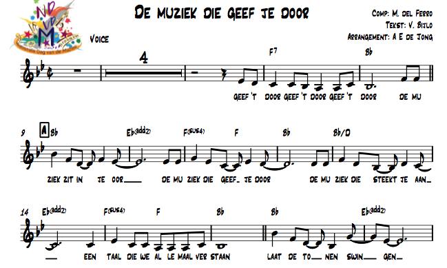 NDvdM bladmuziek afbeelding